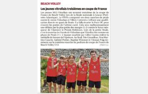 Les jeunes Vitrollais - Coupe de France Beach Volley